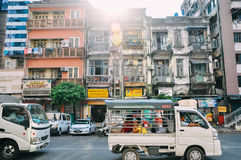 Old buildings in Yangon. Royalty Free Stock Images