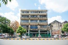 Old buildings in Yangon. Run down buildings in Yangon, Myanmar Stock Image