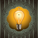 Old bulb background. Stock Photos