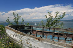 Old bulgarian boat Stock Photo