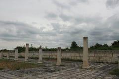 The old Bulgarian capital Pliska Stock Images