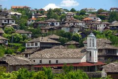 Old Bulgarian houses. In the village of Dolen Royalty Free Stock Photography