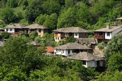 Old Bulgarian houses Royalty Free Stock Photo