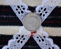 Old bulgarian lev. Pic of  a Old bulgarian lev Royalty Free Stock Photography