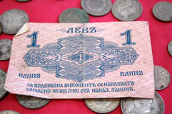 Old bulgarian lev. Picture of a  Old bulgarian lev Royalty Free Stock Photography