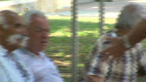 Old bulgarian residents of Varna stock video