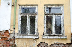 Old Bulgarian Rotting Wooden Window Royalty Free Stock Image