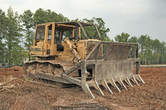 Old Bulldozer Stock Photo