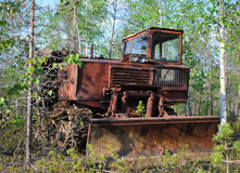 Old bulldozer. Stock Photos