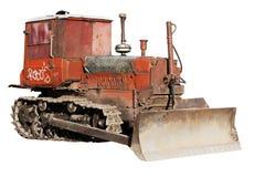 Old bulldozer isolated royalty free stock photography