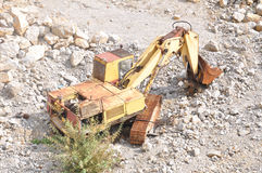 Old bulldozer Stock Images
