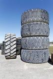 Old bulldozer tire Royalty Free Stock Photos