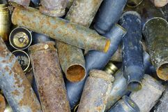Old bullet casings. Stock Photos