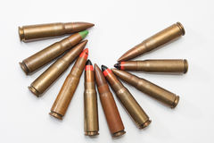 Old bullets in the circle Royalty Free Stock Photos