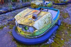 Old bumper car in Pripyat Stock Photos