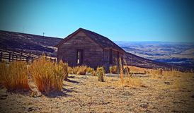 Old Bunk House. Here are the Ruins of a old Bunk House in the Columbia River George in Oregon on a abandoned Ranch Royalty Free Stock Images