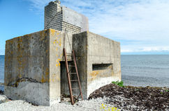 Old bunker on the beach Royalty Free Stock Photos