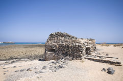 Old bunker on Fuerteventura Royalty Free Stock Images