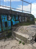 Old bunker with graffiti Royalty Free Stock Images