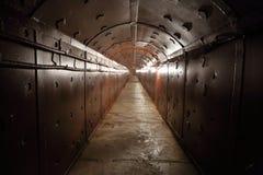 Old bunker's corridor Stock Photos
