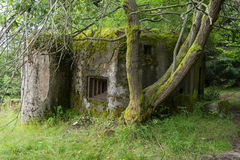 Old bunker from World War II Stock Image
