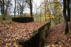 Old bunkers from World War II. German fortifications from the Po Stock Image