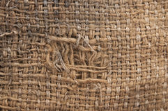 Old burlap background Stock Image