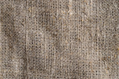 Old burlap canvas Stock Images