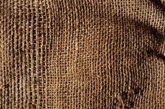 Old burlap fabric background Stock Image