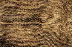 Old burlap fabric Stock Image
