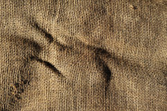Old burlap fabric Stock Photos