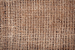 Old burlap fabric texture Stock Photos