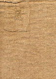 Old burlap with patch Royalty Free Stock Photography
