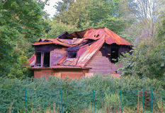 Old burned-out house. Stock Photos