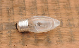 Old burned out light bulb Stock Image