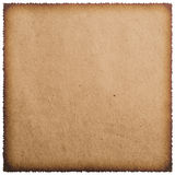 Old burnt paper sheet Royalty Free Stock Photos