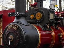 Old 1917 Burrell Steam Traction Engine Detail, Patricia royalty free stock photo