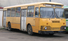 An old bus. At bus station royalty free stock image