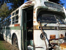 Old Bus. An old bus parked in it's final resting place Stock Photos