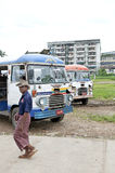 Old bus central yangon myanmar Stock Photo