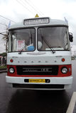 Old bus Ikarus 180 shown at Moscow Transport Day celebration Stock Image