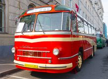 Old bus LAZ-695 Royalty Free Stock Photography