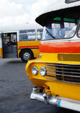 Old bus in malta. The typical old bus in valletta on the island of malta Royalty Free Stock Photography