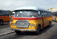 Old bus in malta. The typical old bus in valletta on the island of malta Royalty Free Stock Image