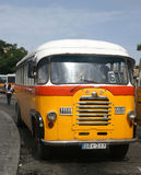 Old bus in malta. The typical old bus in valletta on the island of malta Stock Photography