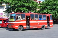 Old bus of Prempracha company Stock Photography