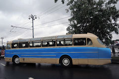 Old bus shown at Moscow Transport Day celebration Stock Photo