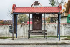 Old bus station in Serbia Royalty Free Stock Photos