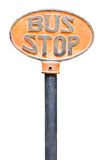 Old bus stop sign Royalty Free Stock Photo