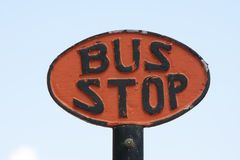 Old Bus Stop Sign Stock Photography
